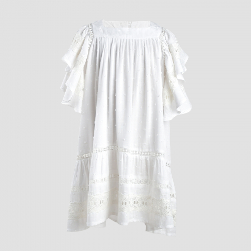 GALE DRESS (BABY) - WHITE